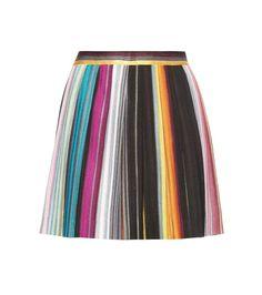 MISSONI Striped Pleated Miniskirt. #missoni #cloth #skirts