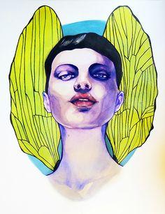Anna Aleksandra Salmi,      Dragonfly, 2012 watercolors, A3
