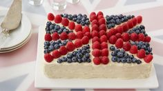 A cake truly fit for a queen, this raspberry jam-filled flag cake topped with loads of fresh berries will surely please even the most royal taste buds.