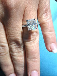 "2.50 I VV2 ""Perfect Cushion"" GIA Certified Cushion Cut Solitaire Diamond Ring 