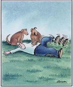 The Ultimate Dog Revenge  -- The Far Side by Gary Larson
