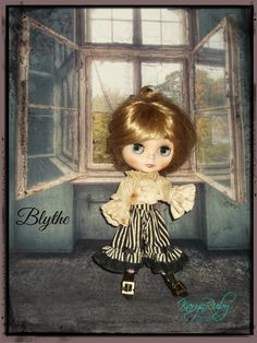 Blythe  'Pirate'    Vintage Inspired  2 Piece Costume by KarynRuby