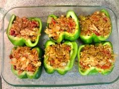 These stuffed peppers taste as good as they look.
