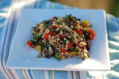 Grilled Veggie Rice Salad - Culinary Mamas