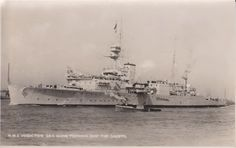 Postcard of the training ship HMS Vindictive From the WW II collection of C.E.R.A Albert Sayer, R.C.N.V.R. Courtesy of Karen Pelton