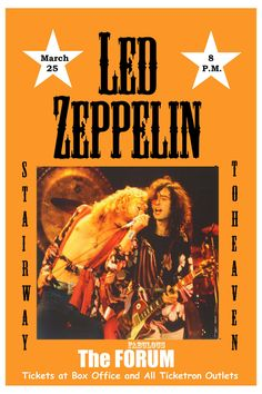 Led Zeppelin at The Forum Los Angeles Concert Poster 1975...16