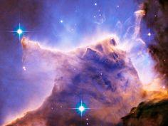 Eagle Nebula (M16) Pillar Detail: Portion of Top : ハッブル宇宙望遠鏡がとらえた写真、画像集 - NAVER まとめ