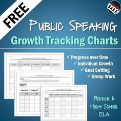 FREE - Use these charts to help your students actually improve between each speech or presentation (instead of staying the same!)