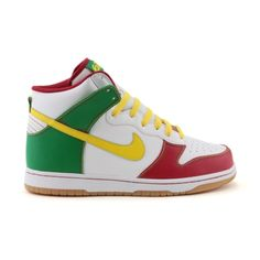 Shop for Mens Nike Dunk Hi 6.0 Athletic Shoe in White Rasta at Journeys Shoes. Shop today for the hottest brands in mens shoes and womens shoes at Journeys.com.A classic high-top shoe from Nike features a durable leather upper, lace closure, and a solid rubber outsole for traction. Available exclusively at Journeys and Underground by Journeys!