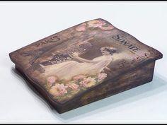Romantikus doboz sokféle technikával // Romantic style box