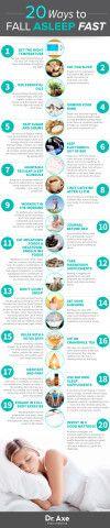 Fall Asleep Fast Infographic