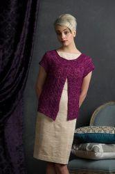 Вязание для женщин жакета с круглой кокеткой Maisie http://vjazhi.ru/jenskaya-vyazanaya-odejda-s-opisaniem/zhakety-koftochki/zhaket-maisie.html