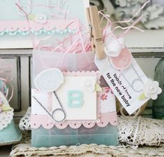 Decorated Glassine Bag for baby shower