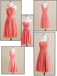 bridesmaids j.crew light coral