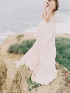 Pink chiffon dress. Photography by Carmen Santorelli.