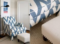 chevron ikat chair | finnian's moon interiors