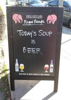 funny-bar-sign-soup-today-beer