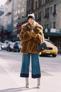 Charlotte Groeneveld of The @FashionGuitar in Cropped Wide Leg Denim  Jeans: http://www.nastygal.com/clothes-bottoms-denim/nasty-gal-denim--mad-crops-wide-leg-jean  Photo Credit: http://vanessajackman.blogspot.com/2015/03/new-york-fashion-week-aw-2015charlotte.html