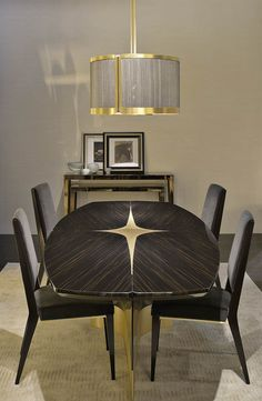 LUXURY DINING TABLE | wooden ans brass dining table for a luxury dining room | http://bocadolobo.com/ #moderndiningtables #luxurydiningtables