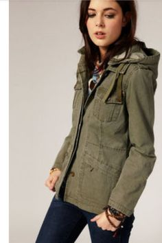 Want.  Army green jacket.  Maybe something heavier