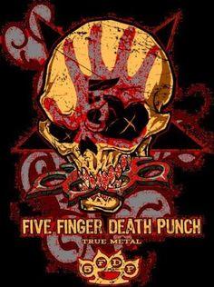 357c2de3f five finger death punch - Classic rock music concert psychedelic poster ~  ☮~ღ~