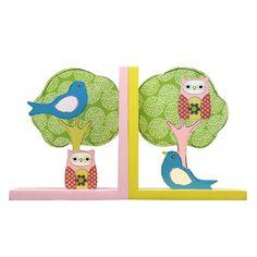Furnistar Set of 2 Decorative Children's Wood Bookends