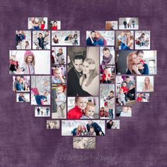 Valentines day gifts for her 4 Diferent Heart Photo Collage Template PSD. by DesignBoutiQ Diy Photo, Wedding Anniversary Gifts, Wedding Gifts, Closets Pequenos, Collage Des Photos, Wall Photos, Valentine Day Gifts, Valentines, Photo Collage Template