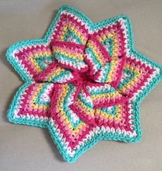 A personal favorite from my Etsy shop https://www.etsy.com/listing/540840677/crochet-hot-pad-trivet-pot-holder