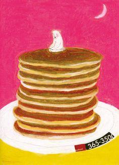 Food Illustrations, Illustration Art, Misaki Kawai, Art Hoe, Art For Kids, Bears, Illustrator, Fairy, Kawaii