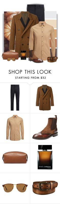 """Sunday Brunch"" by cindy-for-fashion ❤ liked on Polyvore featuring Jil Sander, Yohji Yamamoto, Joseph, Antonio Maurizi, Ghurka, Dolce&Gabbana, Persol, Uniqlo, men's fashion and menswear"