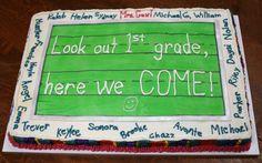 Kindergarten graduation cake.