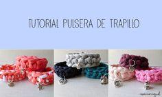 Aprende a hacer una bonita pulsera de trapillo Diy Projects To Try, Crochet Projects, Diy Jewelry, Jewelry Making, Yarn Bracelets, Diy Schmuck, T Shirt Yarn, Wedding Humor, Animal Design