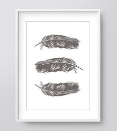 Black and White Feather Print Feather Wall Art by IzzyIves on Etsy Feather Wall Art, Feather Print, Hipster Nursery, Bohemian Art, White Nursery, White Feathers, Woodland Nursery, Printable Wall Art, Wall Prints