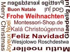 Frohe Weihnachten! Einfach mal entspannt feiern wünscht http://www.montessori-shop.de