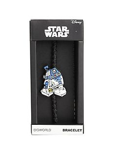 <p>This IS the droid you're looking for! Black cord bracelet from <i>Star Wars</i> with a rubber R2-D2 charm. </p>  <ul> 	<li>Imported</li> </ul>
