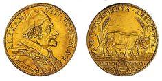 Papal States AV Quadrupla 1690 Rome Mint 13.41g./32mm. Pope Alexander VIII 1689-91