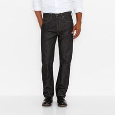 These men's Levi's 501 jeans feature shrink to fit technology and a straight leg design. Black Jeans Men, Blue Jeans, Jeans Fit, Denim Jeans, Levis 501 Original, Mens Big And Tall, Trousers, Pants, The Originals