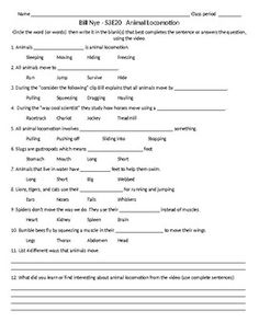 this 13 question worksheet with teacher answer key is designed to go along with the bill nye. Black Bedroom Furniture Sets. Home Design Ideas