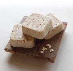 Milk and Honey soap bars using melt and pour super easy.