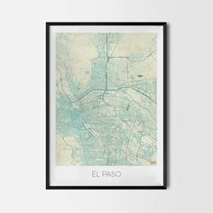 El Paso art posters and prints of your favorite city. Unique map design of El Paso. Perfect for your house and office or as a gift for friend. Map Print - Minimalist City Map Art Poster - Interior Ideas, Wall Art Gift, Cool Art Prints, Unique Map Posters, Cheap Bedroom Gifts, Decorative Design