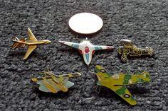JOB LOT 5 X AIRCRAFT/PLANE/AVIATION/JET RELATED PIN BADGES