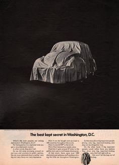 1968 VW Volkswagen Bug Beetle car print ad Best Kept by Vividiom, $9.00