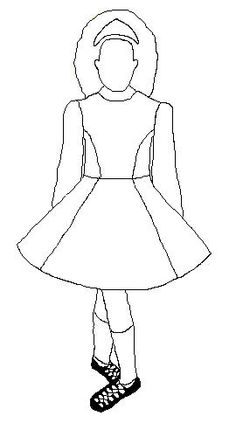 irish step dancing coloring pages - photo#7