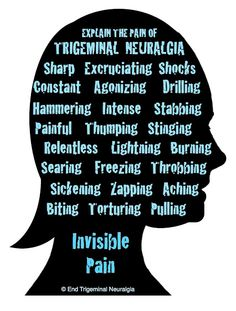 This is excrutiating. So glad I found neurosurgeon, and that it is GONE! End Trigeminal Neuralgia: Trigeminal Neuralgia : Explain The Pain {{ very excellent article, highly recommend reading and sharing this one }}》 Chronic Fatigue, Chronic Illness, Chronic Pain, Fibromyalgia, Trigeminal Neuralgia Symptoms, Cluster Headaches, Nerve Pain, Invisible Illness, Autoimmune Disease