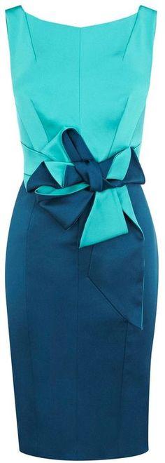 Karen Millen Beautiful Satin Dress in Blue