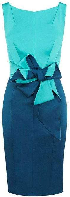 Karen Millen Beautiful Satin Dress in Blue