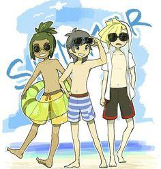 Summer alolan bois ( Hau, Sun, and Gladion ) #FunnyPokemonImages