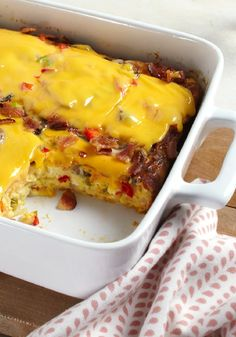 VELVEETA® Cheesy Bacon Brunch Casserole – Bacon, eggs and hash browns topped with melty VELVEETA—it's everything you want for brunch in one delicious casserole.