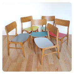 6 chaises scandinaves -