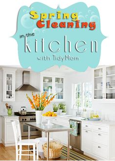 10 Spring Cleaning steps to get your kitchen health inspector clean! at TidyMom.net